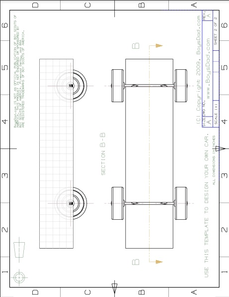 blank pinewood derby car design template