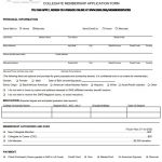 Free Printable Membership Application Forms (Word, PDF)