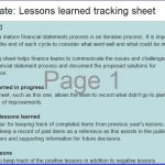 Printable Lessons Learned Template (Excel, Word, PDF)
