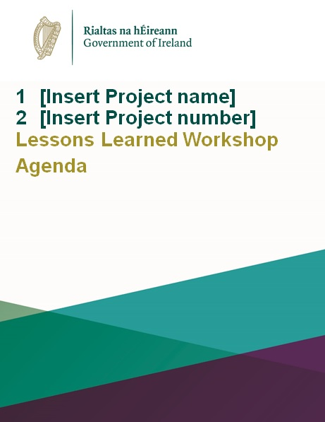 lessons learned workshop agenda template