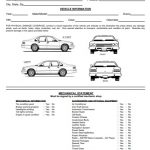 Printable Vehicle Inspection Form Template (Word, PDF)