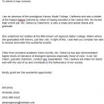 Sorority Recommendation Letter Template (Word, PDF)