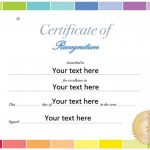 Free Printable Certificate of Recognition Template [Word]