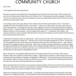 church resignation letter template