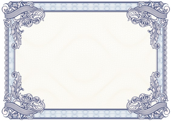 free printable award certificate borders
