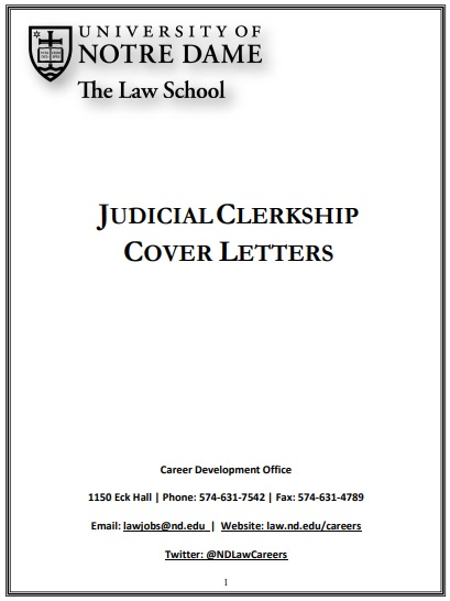 judicial clerkship cover letter sample
