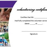 sample volunteer certificate template