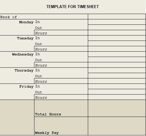 simple timesheet template excel